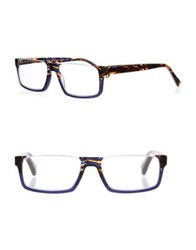 Eyebobs Size Matters 50 56Mm Square Reading Glasses Navy Tortoise