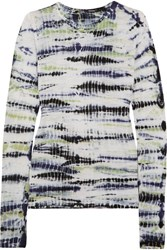Proenza Schouler Tie Dyed Cotton Jersey Top Lilac