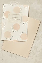 Anthropologie Birthday Girl Card Pink