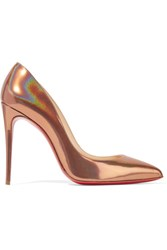 Christian Louboutin Pigalle Follies 100 Metallic Patent Leather Pumps Bronze