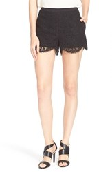 Women's Ted Baker London 'Azaria' Lace Shorts Black