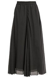 Cream Stona Maxi Skirt Pitch Black