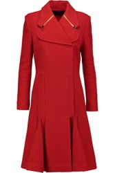 Roland Mouret Andrelina Boucle Coat Red