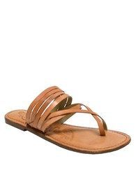 Naughty Monkey Chrissy Leather Sandals Tan