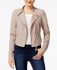 American Rag Faux Suede Moto Jacket Only At Macy's Taupe