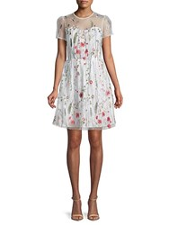Walter Baker Drew Embroidered Floral Lace Dress White