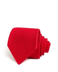 Thomas Pink Newham Plain Woven Classic Tie Red