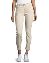 7 For All Mankind The Ankle Skinny Jeans Light Khaki