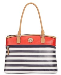 Giani Bernini Canvas Stripe Dome Satchel Only At Macy's