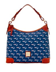 Dooney And Bourke New England Patriots Printed Hobo Navy Patriots