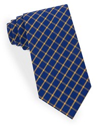 Lord And Taylor Negative Grid Tie Blue