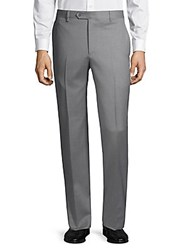 Saks Fifth Avenue Classic Wool Dress Pants Light Grey