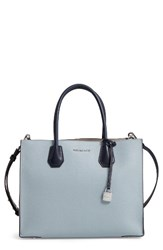 Michael Michael Kors Large Mercer Colorblock Leather Tote Blue Denim Blue Admiral