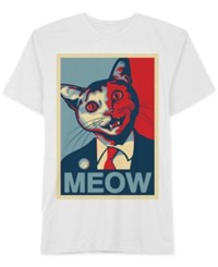 Jem Men's Cat Pop Graphic Print T Shirt White