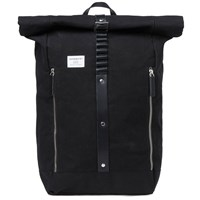 Sandqvist Rolf Waxed Rolltop Backpack Black