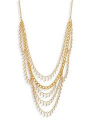Chan Luu Draped Chain And Crystal Multi Row Necklace Gold
