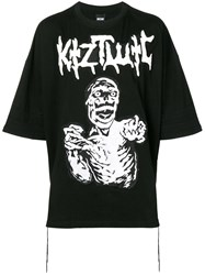 Ktz Oversized Graphic Print T Shirt Black