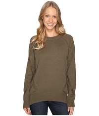 Fate Distressed Sweater Olive Women's Sweater