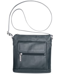 Giani Bernini Nappa Leather Venice Crossbody Navy