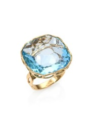 Roberto Coin Ipanema Blue Topaz And 18K Yellow Gold Cocktail Ring