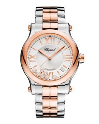 Chopard 36Mm Happy Sport Two Tone Watch With Diamonds