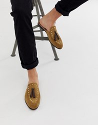 House Of Hounds Helios Slip On Loafers In Beige Suede