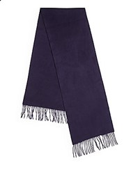 Saks Fifth Avenue Solid Cashmere Scarf Navy