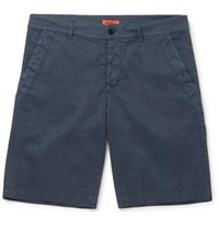 Barena Slim Fit Linen Blend Shorts Navy