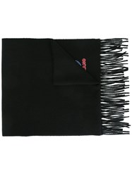 Moschino Fringed Scarf Black