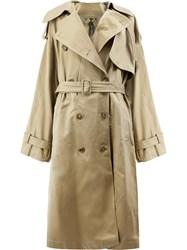 Juun.J Button Up Trench Coat Cotton Polyester Viscose