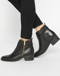Oasis Zip Side Ankle Boots Black