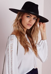 Missguided Suedette Wide Brim Fedora Black Black