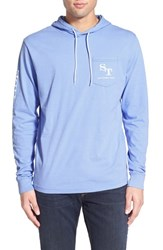Men's Southern Tide Graphic Hooded Long Sleeve T Shirt Sail Blue