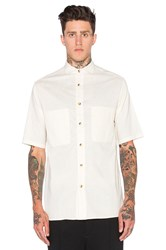 Wil Fry Short Sleeve Utility Shirt Beige