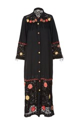 Anjuna Valery Button Up Dress Black