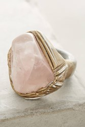 Anthropologie Rose Quartz Ring Gold