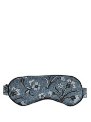 Morpho Luna Jemma Mirage Print Silk Eye Mask Blue Multi