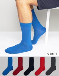 Bjorn Borg 5 Pack Socks Red