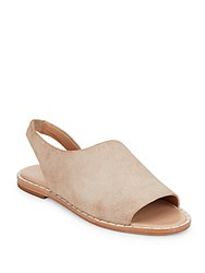 Elie Tahari Nora Suede Sandals White Wash Dove
