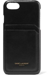 Saint Laurent Printed Textured Leather Iphone 8 Case Black