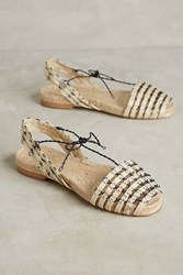 Anthropologie Ball Pages Open Toe Espadrilles Neutral Motif