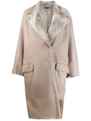 Manzoni 24 Oversized Trench Coat Grey