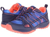 The North Face Litewave Explore Patriot Blue Print Tropical Coral Women's Shoes
