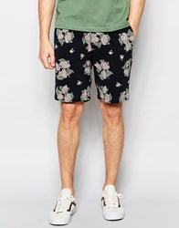 Dickies Shorts With All Over Floral Print Black