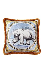 Versace Ben Polar Bear Printed Accent Pillow
