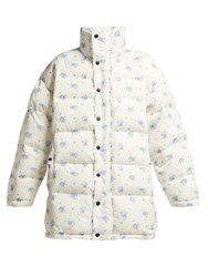 Balenciaga Oversized Padded Down Filled Jacket White Print