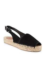 French Connection Lucy Suede Espadrille Sandals Black