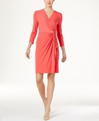 Charter Club Faux Wrap Dress Only At Macy's Crushed Coral