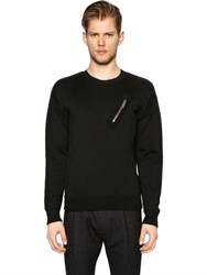 Dsquared Zip Detail Wool Knit Sweater