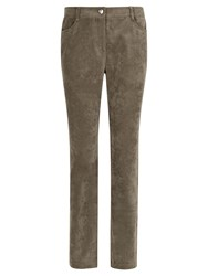 Viyella Straight Leg Corduroy Long Trousers Khaki